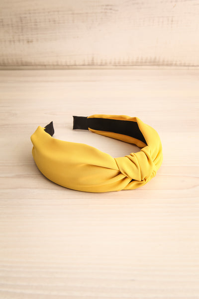 Eiddal Sunrise Yellow Knotted Fabric Headband | La Petite Garçonne 3