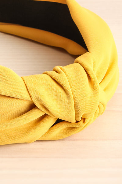 Eiddal Sunrise Yellow Knotted Fabric Headband | La Petite Garçonne 4