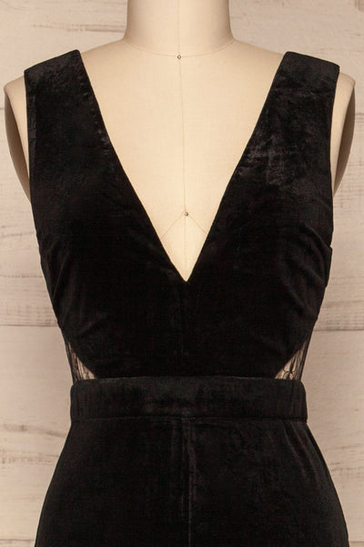 Eidsburg Black Jumpsuit | Combinaison | La Petite Garçonne front close-up