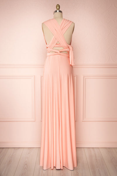 Elatia Blush Light Pink Convertible Dress back view | Boudoir 1861 fifth look view