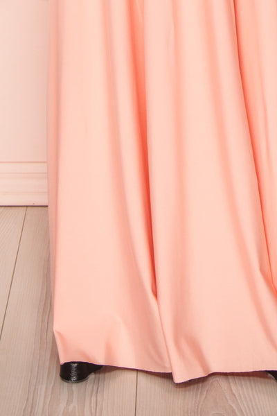 Elatia Blush Light Pink Convertible Dress bottom view | Boudoir 1861 bottom close-up