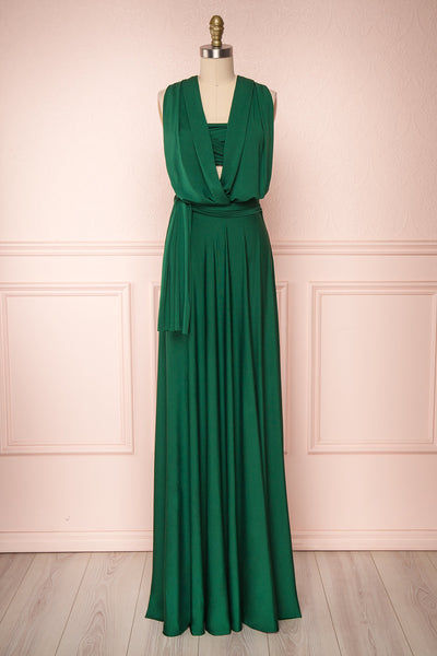Elatia Forêt Forest Green Convertible Maxi Dress | Boudoir 1861