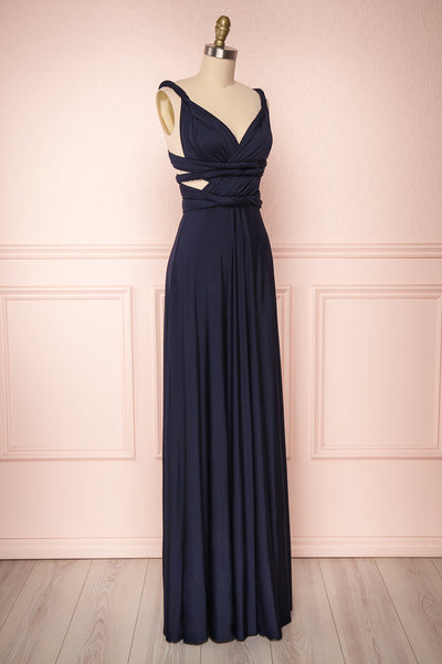 Elatia Marine | Blue Convertible Maxi Dress