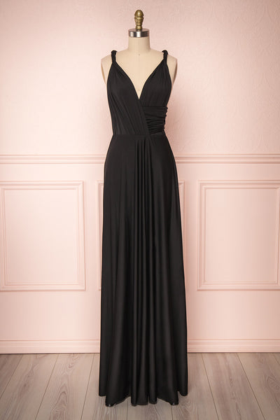 Elatia Noir Black Convertible Maxi Dress | Boudoir 1861
