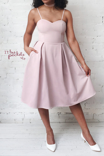 Ellyne Pink A-Line Cocktail Dress | Boutique 1861