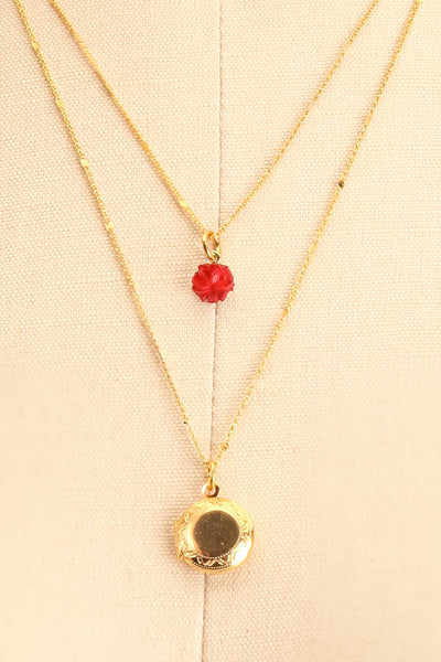 Elvira Quintana Flower & Locket Pendant Necklace | Boutique 1861 2