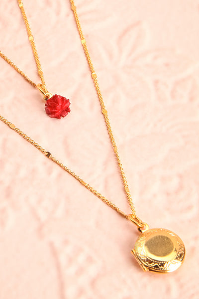 Elvira Quintana Flower & Locket Pendant Necklace | Boutique 1861 4