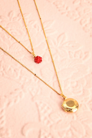 Elvira Quintana Flower & Locket Pendant Necklace | Boutique 1861 3