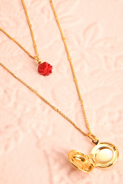 Elvira Quintana Flower & Locket Pendant Necklace | Boutique 1861 6