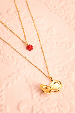 Elvira Quintana Flower & Locket Pendant Necklace | Boutique 1861 5
