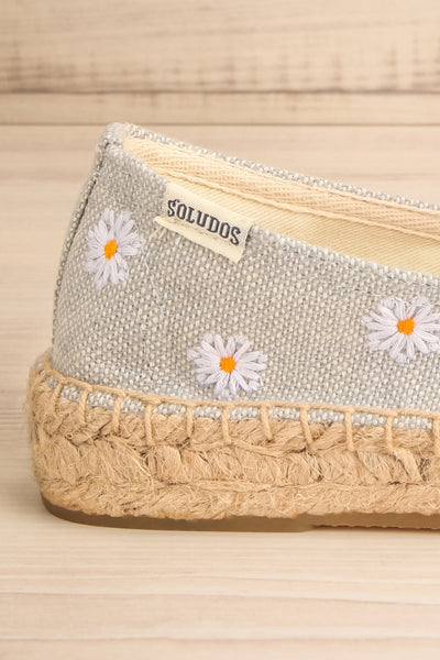 Elwina Floral Canvas & Jute Espadrilles | La petite garçonne side close-up