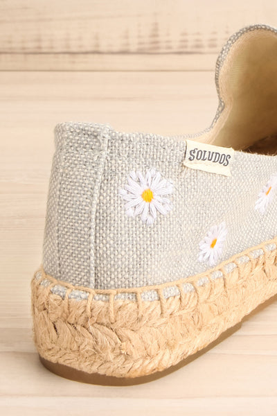Elwina Floral Canvas & Jute Espadrilles | La petite garçonne back close-up