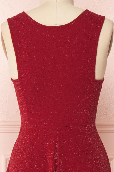 Elya Rubis | Burgundy Plus Siz Dress