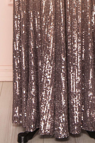 Emerentine Taupe Ombre Sequin Gown | Robe bottoms | Boutique 1861