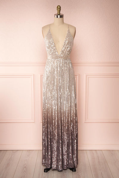Emerentine Taupe Ombre Sequin Gown | Robe | Boutique 1861