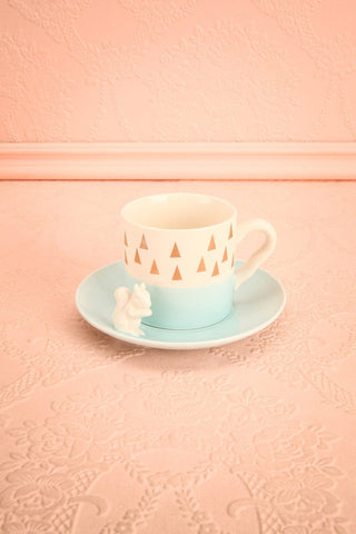 Ensemble à thé Squirrel - Set of tea cup and saucer