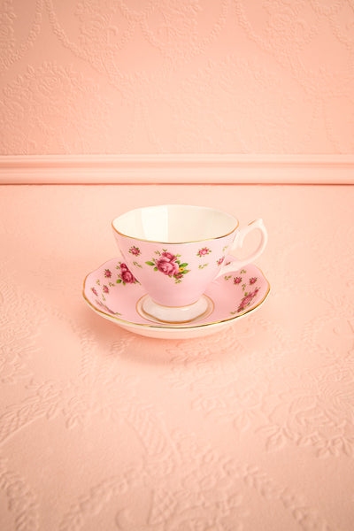 Ensemble Anji Rose Pink Floral Tea Set | Boutique 1861 1