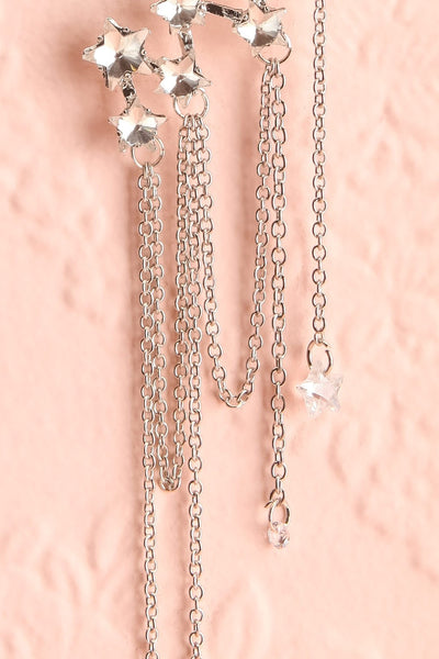 Eolande Silver Crawler Earrings | Boutique 1861 chains close-up