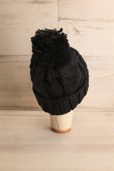 Eos Blackberry Black Knit Tuque with Pompom | La Petite Garçonne 3