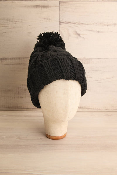 Eos Blackberry Black Knit Tuque with Pompom | La Petite Garçonne 1