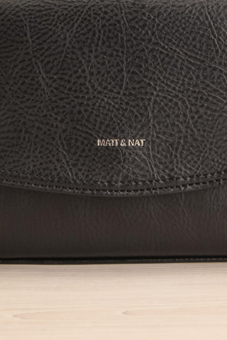 Erika Onyx Black Matt & Nat Crossbody Bag front close-up | La Petite Garçonne