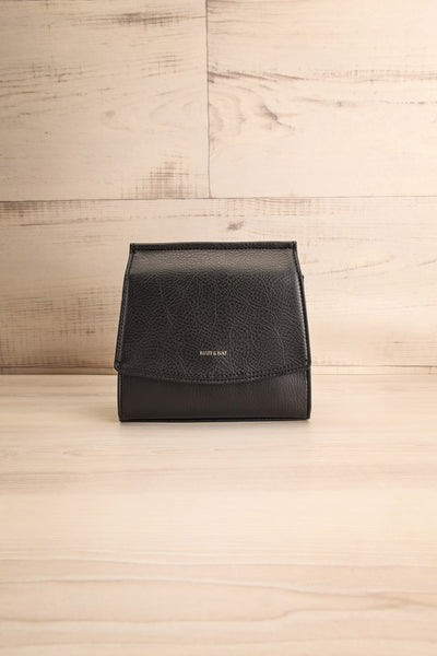 Erika Onyx Black Matt & Nat Crossbody Bag front view | La Petite Garçonne