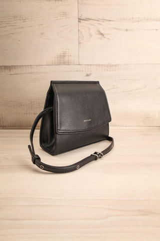 Erika Onyx Black Matt & Nat Crossbody Bag side view | La Petite Garçonne