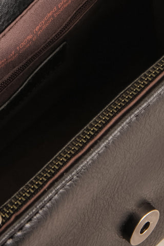 Erika Onyx Black Matt & Nat Crossbody Bag inside close-up | La Petite Garçonne