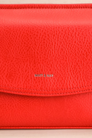 Erika Ruby Red Matt & Nat Crossbody Bag front close-up | La Petite Garçonne