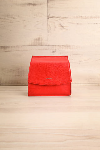 Erika Ruby Red Matt & Nat Crossbody Bag front view | La Petite Garçonne
