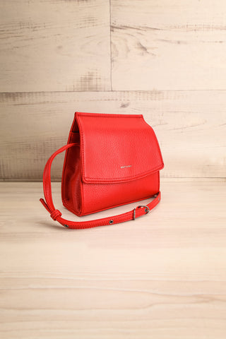 Erika Ruby Red Matt & Nat Crossbody Bag side view | La Petite Garçonne