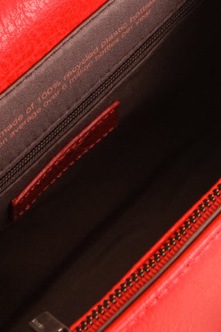 Erika Ruby Red Matt & Nat Crossbody Bag inside close-up | La Petite Garçonne