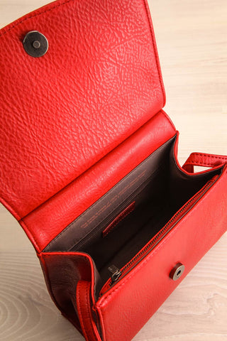Erika Ruby Red Matt & Nat Crossbody Bag inside view | La Petite Garçonne