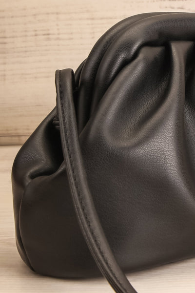 Erline Black Crossbody Bag | Sac Noir | La Petite Garçonne side close-up