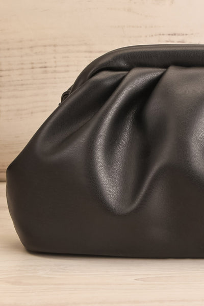 Erline Black Crossbody Bag | Sac Noir | La Petite Garçonne front close-up