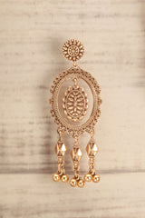 Eryngium Golden Bohemian Pendant Earrings | La Petite Garçonne