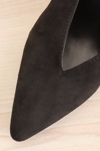 Esquirol Black Pointed Toe Low Heeled Mules | La Petite Garçonne 2