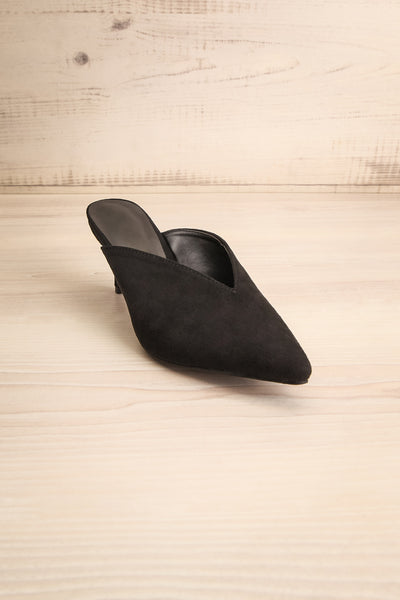 Esquirol Black Pointed Toe Low Heeled Mules | La Petite Garçonne 3