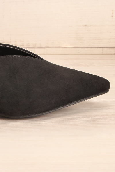 Esquirol Black Pointed Toe Low Heeled Mules | La Petite Garçonne 7