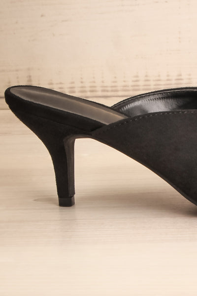 Esquirol Black Pointed Toe Low Heeled Mules | La Petite Garçonne 6