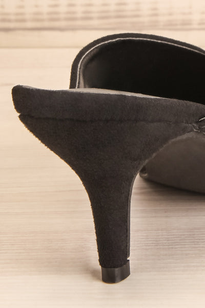 Esquirol Black Pointed Toe Low Heeled Mules | La Petite Garçonne 9