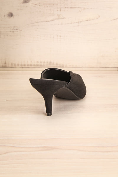 Esquirol Black Pointed Toe Low Heeled Mules | La Petite Garçonne 8