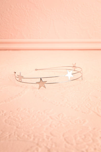 Etincelle Silver Headband with Stars | Boutique 1861 flat view
