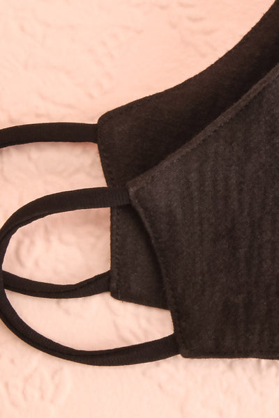 Face Mask Black | Boutique 1861 folded close-up