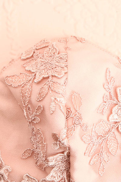Face Mask Pink Lace | Boutique 1861 close-up