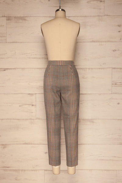 Fagernes Grey Plaid Pant | Pantalon Carreauté | La Petite Garçonne back view