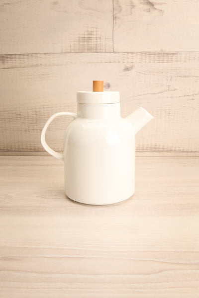 Falconet White Ceramic Teapot side view | La Petite Garçonne Chpt. 2