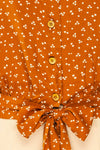 Falkflageet Patterned Orange Short Sleeve Shirt | La petite garçonne  fabric