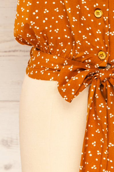 Falkflageet Patterned Orange Short Sleeve Shirt | La petite garçonne bottom