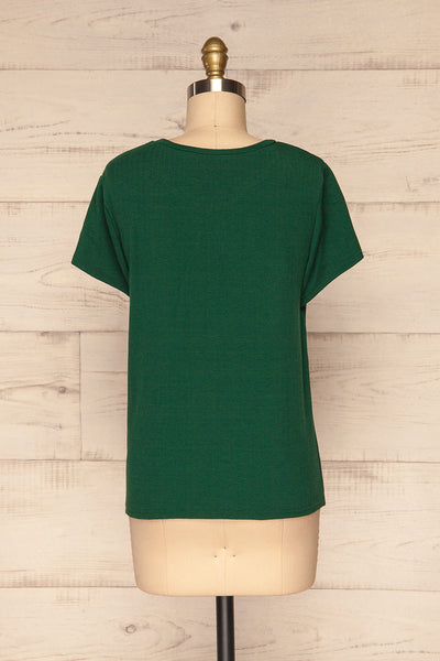 Fallebo Seaweed Green Short Sleeved T-Shirt back view | La Petite Garçonne
